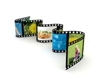 Film over white background. 3d render Stock Images