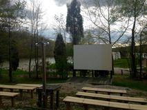 Film på sjön? Royaltyfri Bild
