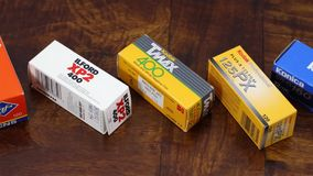 110 film packages stock video