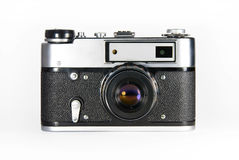 Film photo camera. Old fashion film photo camera Stock Photography