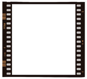 Film photo frame. Film like emulsion white photo frame Stock Images