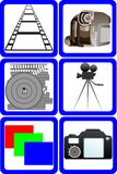 Film and photo industry Royalty Free Stock Photos