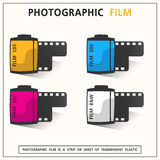 Film photographic. For the photographic material used in camera vector Royalty Free Stock Image