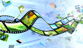 Film and photos. 3D render vector illustration