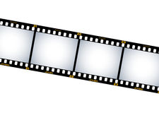 Film pictures. Band of film pictures with orange numbers on the side Royalty Free Stock Images