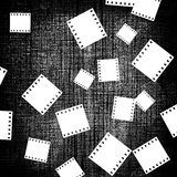Film pieces on canvas Royalty Free Stock Photo