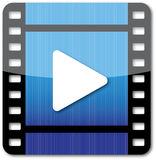 Film play icon Royalty Free Stock Photo