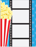 Film and Popcorn Stock Image