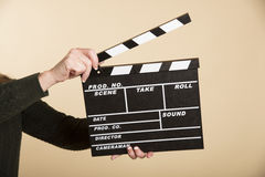 Film production clapper board Stock Image