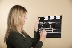 Film production clapper board Royalty Free Stock Photo
