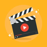 Film production concept. Vector illustration. Movie production icon in flat style isolated from the background. Video production design flat illustration. Film Stock Images