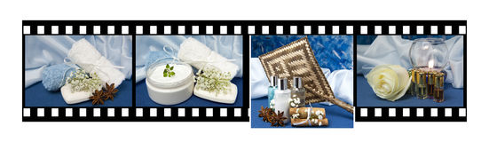 Film of products for body care. Film of film of natural products for body care Royalty Free Stock Photo