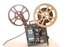 Film Projector 16MM. Old and antique commercial film projector Stock Photography