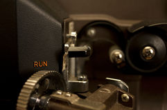 Film projector close-up. Close-up of a 16mm Eiki projector Stock Photo