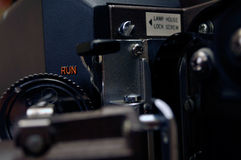 Film projector close-up. Close-up of a 16mm Eiki projector Royalty Free Stock Image