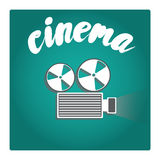 Film projector in a flat style. Vector illustration. Stock Images