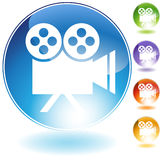 Film Projector Icon. In multi colors Stock Photography