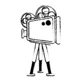Film projector icon image Royalty Free Stock Photo