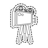 Film projector icon image Stock Photography