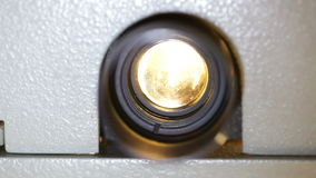 Film projector lens Stock Photo