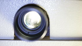 Film projector lens Royalty Free Stock Images