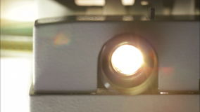 Film projector lens Royalty Free Stock Photo