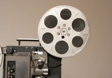 Film Projector Side Close Royalty Free Stock Image