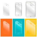 Film protecteur pour votre écran de téléphone et de tablette Photo stock