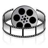 Film real. On white background Royalty Free Stock Photography