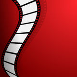 Film on the red background. A Film on the red background Royalty Free Stock Images