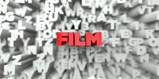 FILM -  Red text on typography background - 3D rendered royalty free stock image. This image can be used for an online website banner ad or a print postcard Royalty Free Stock Photos