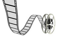 Film Reel. A 3d image of retro film reel isolated on white royalty free illustration