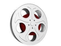 Film reel. A 3d rendering illustration of a film reel vector illustration
