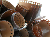 Film reel. On white Stock Image