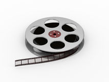 Film reel. Isolated on white royalty free illustration