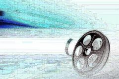 Film reel. Film strip reel abstract background stock illustration