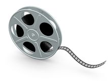 Film reel. On the white backgreound royalty free illustration