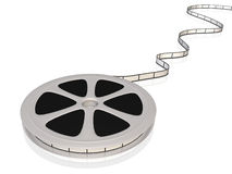 Film Reel. Image of a 3D film reel isolated on a white background Stock Photography