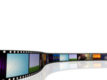 Film Reel. Image of a cinema reel with pictures on a white background royalty free illustration