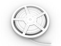 Film Reel. 3D rendered Illustration. Isolated on white Royalty Free Stock Images