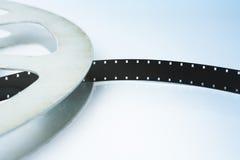 Film reel. Old vintage film reel with 16 mm film Stock Photos