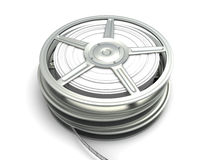 Film Reel. 3D rendered Illustration. Isolated on white Royalty Free Stock Photo