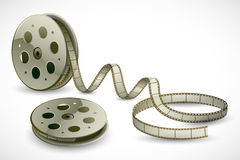 Film Reel. Illustration of film reels on abstract background Royalty Free Stock Photography