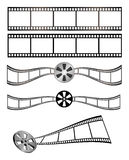 Film and Reel. Film art to use as needed, plus film with reel elements. Easily editable to make your own. Available as EPS, AICS, PDF and JPEG royalty free illustration