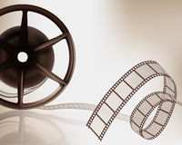 Film reel. Old reel of film. Vector illustration Stock Photos