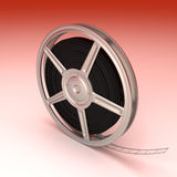 Film Reel. A Film reel. 3D rendered Illustration. Unbalanced lightning Royalty Free Stock Images