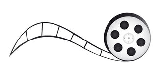 Film reel. Cartoon isolated over white background. vector royalty free illustration