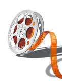 Film reel. Big camera reel with film. Only simple gradients used, no transparency Royalty Free Stock Photo