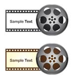Film reel. Film tape with space to copy over white background. vector Royalty Free Stock Photo