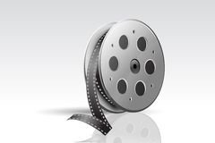 Film Reel. Illustration of film reel on abstract background Stock Photo